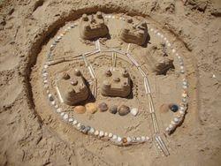 Sand castles on Ila de Tavira