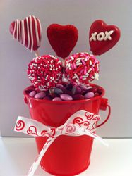 Valentines Day Cake Pop Bucket