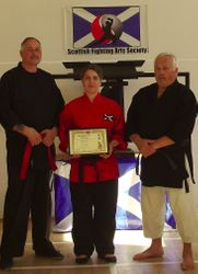 Presentation of Nidan in Kempo to Katy Louise Taylor