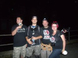 Marc, Brian, Dom and MJ at Pennhurst