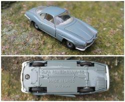 Tarybiniais laikais pagamintas modeliukas Alfa-Romeo Giulia SS, 1:43. Kaina 28