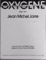 Oxygene 4 Sheet Music