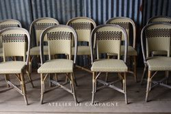 SOLD  #26103 FRENCH BISTRO CHAIRS CREAM