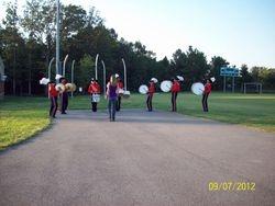 drum line warming up