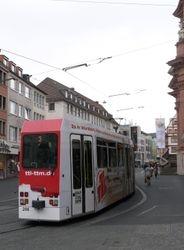 LHB tram #206 in Schonbomstrasse