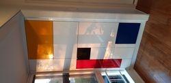 Custom wall cabinet.