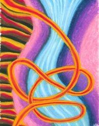 Calming Steam, Oil Pastel, 11x14, Original Sold
