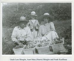 Lemuel and Mary Ellen Shingler with Frank Kauffman