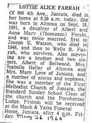Farrah, Lottie Forsht Watson 1965