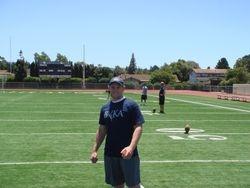 UC Davis Punter Colton Schmitt Helping Out
