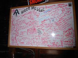 Hikers' message board