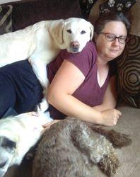 Giving Sarah a big cuddle!