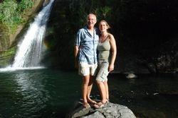 John and Ann at Concorde Falls
