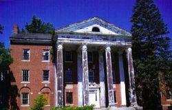 Columns grace the facade