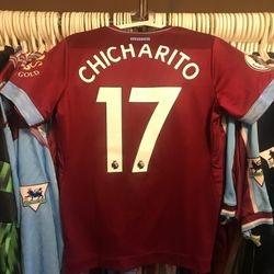 """Javier """"Chicharito"""" Hernandez worn dirty home 2018/19 shirt"""