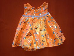 Orange shimmer dress for a  for a girls birthday party