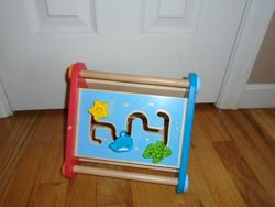 Hape Take-Along Wooden Toddler Activity Skill Building Box - $20