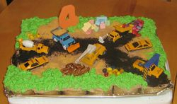 Construction Site Cupcakes (pull apart cake)