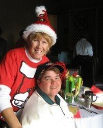 Theresa & Lynn at Christmas luncheon