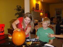 Carving pumpkins!