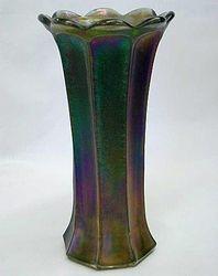 "Unusual Wide Panel or Flute 9"" vase - smoke"