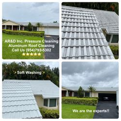 Aluminum Roof Cleaning