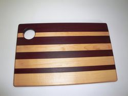 Purpleheart, Maple Face-Grain Cutting Board