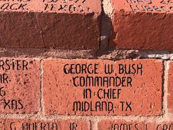 George W Bush Brick