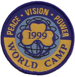 1999 World Camp Cloth Badge