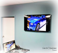 "50"" flat screen TV wall mount installation"