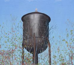 Water Tower, oil'panel