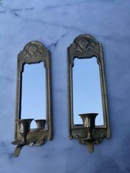 Pakabinamos zvakides su veidrodziu. 2 vnt. Kaina po 21