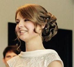 Romantic hair up style