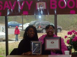 Savvy Presents Kimberla with a Plaque and Certificate