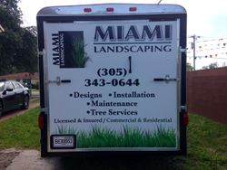 Trailer Wrap for landscaping