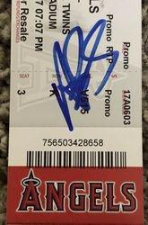 Albert Pujols Autographed Signed 600th HR Homerun Full Ticket 6-3-17 w/ JSA COA