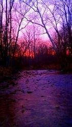 A creek in Lewisburg, Ohio