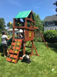 gorilla playset playmaker swing set assembly in arlington Virginia