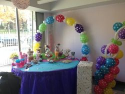 Single Polka Dots Balloon Arch