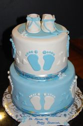 Baby shower 2 tiered cake