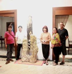 Pameran seni batu,patung & Kreasi alam