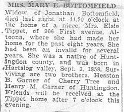 Bottomfield, Mary Garner 1945