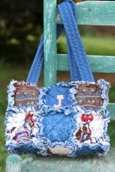 SOLD - EXAMPLE OF Medium Size 6 Square Bag $35 with embroidery & + S/H ($7)