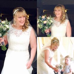 Soft curls to the side for our stunning bride Jo