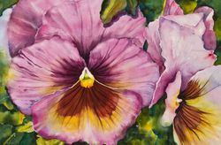 Pretty in Pink Pansies
