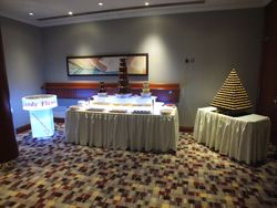 Triple Chocolate Fountain, Candy floss and Ferrero Rocher Pyramid Package.