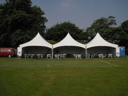 Marquee in Chalkwell park for Armed Forces Day 2010