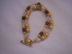 gold pearl coated hematite