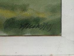 """Algirdo Luksto akvarele """"Peizazas"""". Kaina 207"""