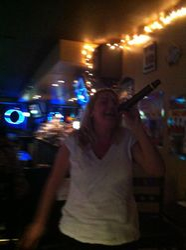 G rocking hard at 502 Bar Lounge's Social Saturday Karaoke Night!
